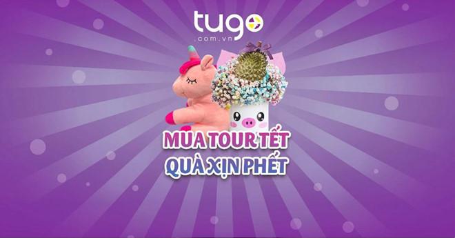 Quà tặng hấp dẫn trị giá đến 999.000đ khi đặt mua tour tết tugo.com.vn