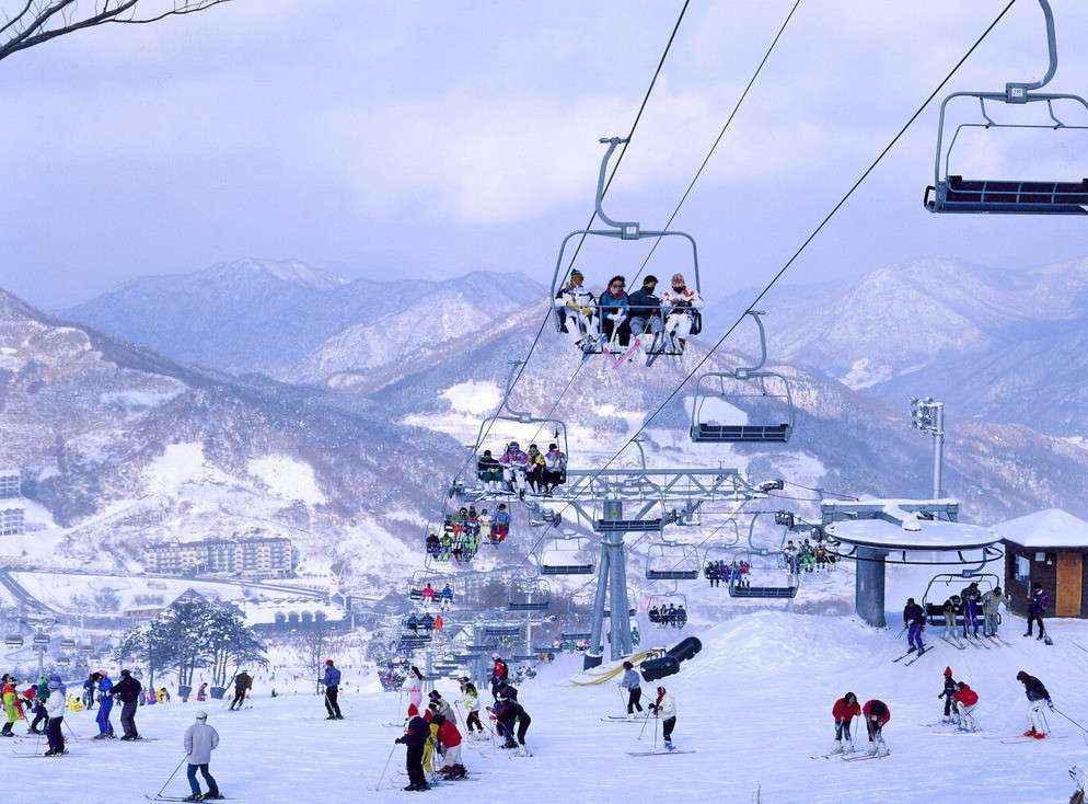 Khu trượt tuyết ở Yongpyong