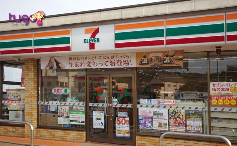 7-Eleven là cửa hàng tiện lợi mà du khách có thể đổi tiền mặt trong những trường hợp cần thiết