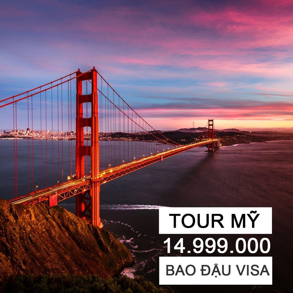 Bao đậu Visa Mỹ với tour Mỹ 7N6Đ giá chỉ 14,999,000đ