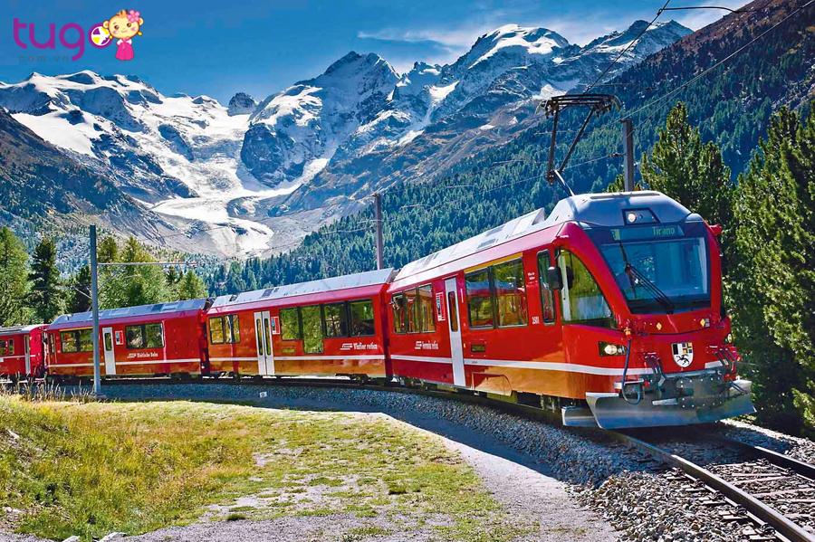 Bạn có thể chọn tàu hỏa làm phương tiện di chuyển khi đến Thụy Sĩ