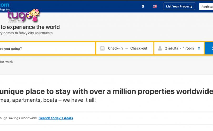 Booking.com là trang web đặt phòng khách sạn uy tín hiện nay