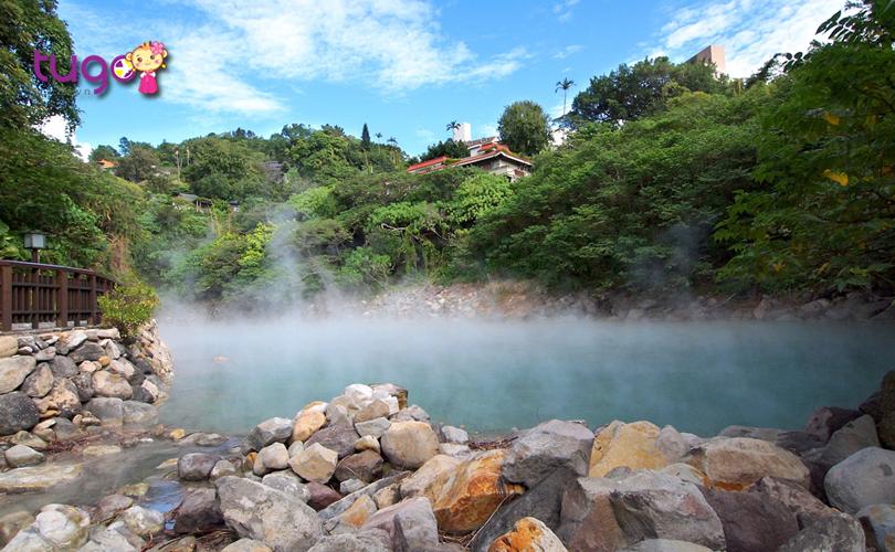 Còn gì tuyệt hơn khi được thư giãn trong làn nước ấm áp giữa tiết trời lạnh giá ở Đài Loan