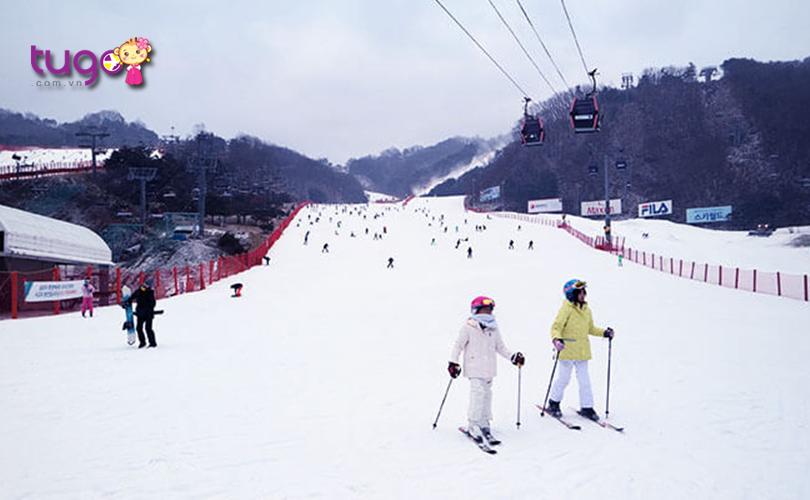 Công viên Vivaldi có nhiều khu vực trượt tuyết dành cho cả người chơi mới bắt đầu lẫn người trượt tuyết chuyên nghiệp