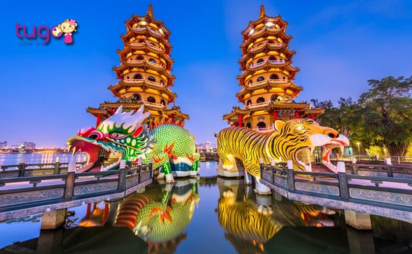 Cận cảnh kiến trúc độc đáo của đền Long Hổ nổi tiếng Đài Loan