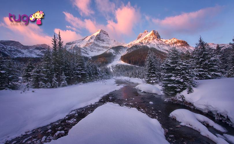 Cận cảnh vẻ đẹp hùng vĩ của dãy núi tuyết Rockies