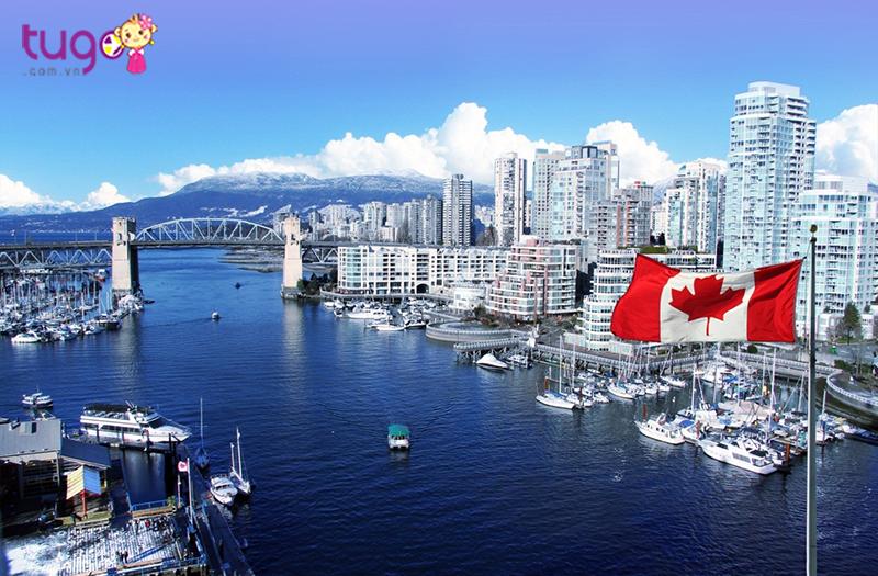 Một góc thành phố Canada