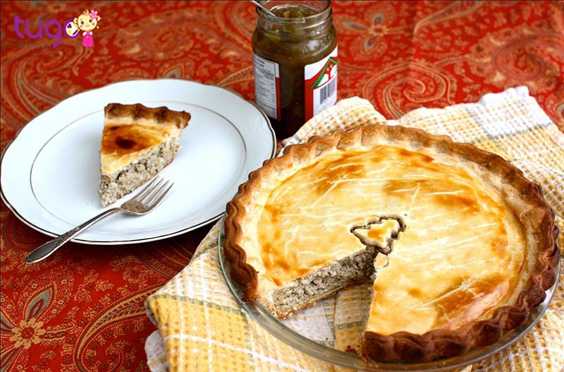 Bánh Tourtière Pháp là món ăn kết hợp giữa 2 phong cách ẩm thực Canada và Pháp