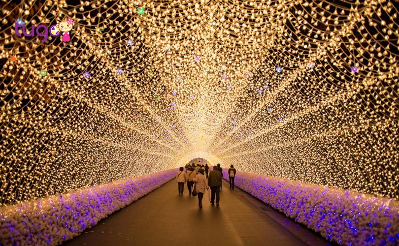 Con đường ánh sáng nổi tiếng tại Nabana no Sato