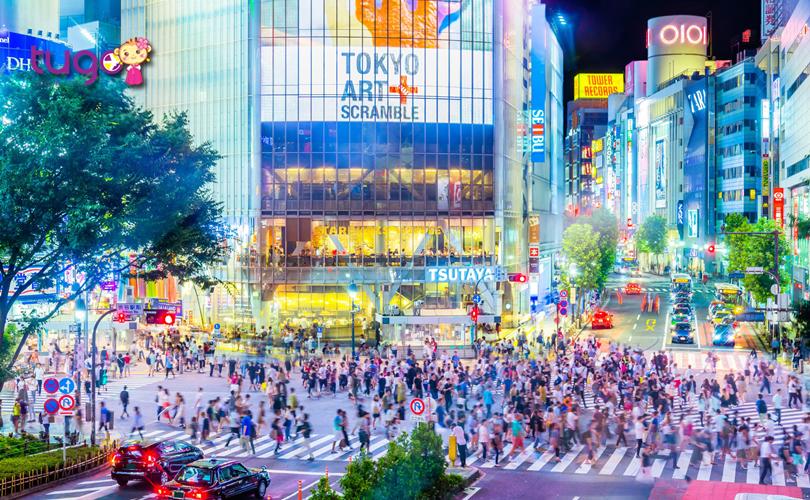 Con phố Shibuya sầm uất với nhiều khu mua sắm hấp dẫn