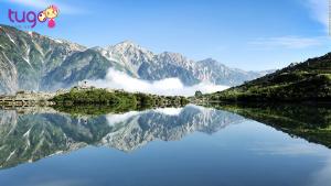 Hồ Happo mang vẻ đẹp của chốn bồng lai tiên cảnh