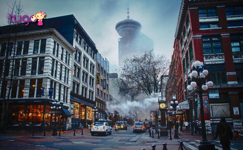 Dạo phố Gastown cũng là trải nghiệm thú vị vào mùa đông ở Canada