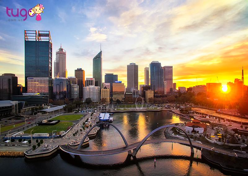 Buổi sáng trong lành và yên bình tại thành phố Perth