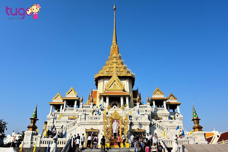 Chùa phật vàng ngôi chùa lớn nhất thế giới là địa điểm du lịch không thể bỏ qua trong chuyến hành trình đến Thái Lan