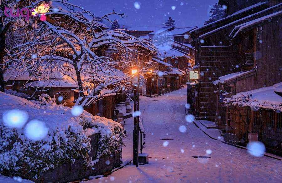 Mùa đông ở Nhật Bản cũng vô cùng đẹp