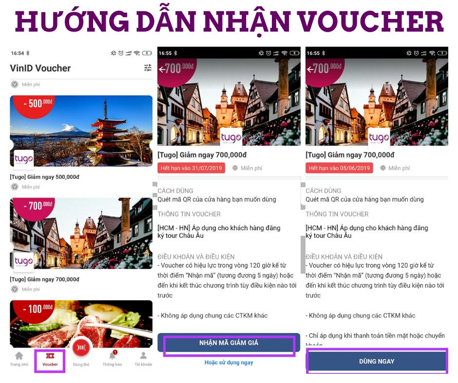 Hướng dẫn nhận Voucher tugo.com.vn