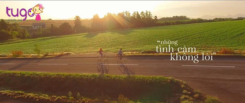 Cảm giác thong dong khi đạp xe trên con đường ngập nắng