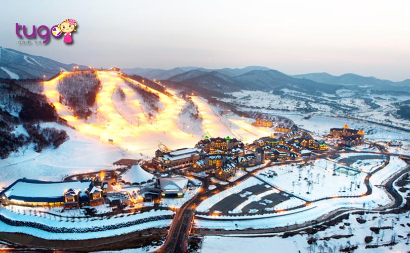 Không chỉ có khu trượt tuyết hiện đại mà Alpensia còn sở hữu nhiều tiện ích tuyệt vời