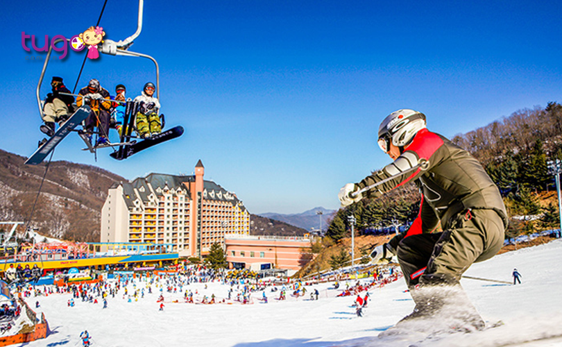 Không khí mùa đông sôi động tại thung lũng trượt tuyết Yangji