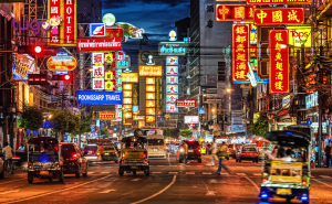 Khu phố Chinatown nhộn nhịp khi về đêm