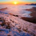 Khung cảnh bình minh tuyệt đẹp ở đỉnh núi Hehuanshan