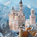 Khung cảnh lâu đài Neuschwanstei giữa mùa đông