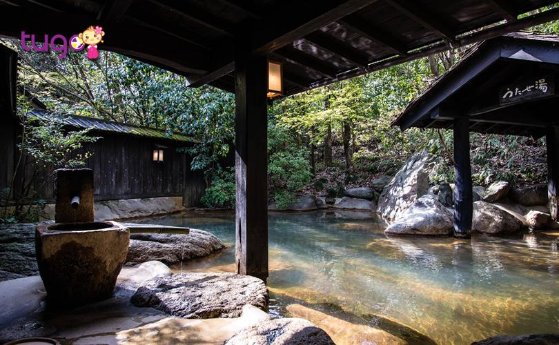 Khung cảnh tuyệt đẹp ở khu tắm suối nước nóng Kinosaki Onsen
