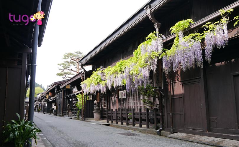 Khung cảnh yên bình, tĩnh lặng ở khu phố cổ Takayama