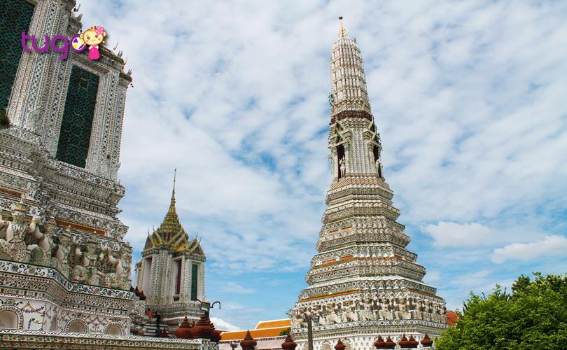 Kiến trúc độc đáo và đẹp mắt ở chùa Wat Arun