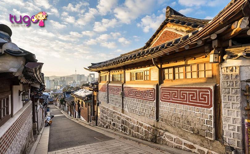 Kiến trúc cổ kính tại ngôi làng Jeonju Hanok nổi tiếng