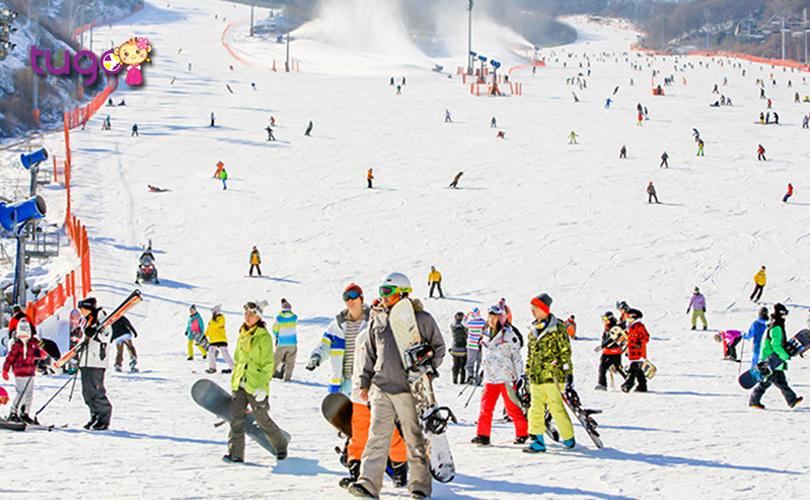 Konjiam Resort, khu trượt tuyết lớn nhất ở vùng lân cận Seoul