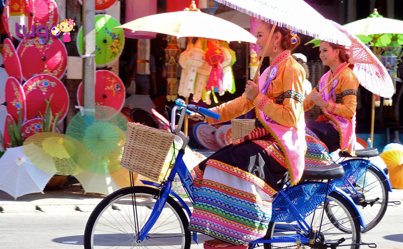 Lễ hội ô là một trong những sự kiện hấp dẫn nhất ở Chiang Mai trong tháng 1