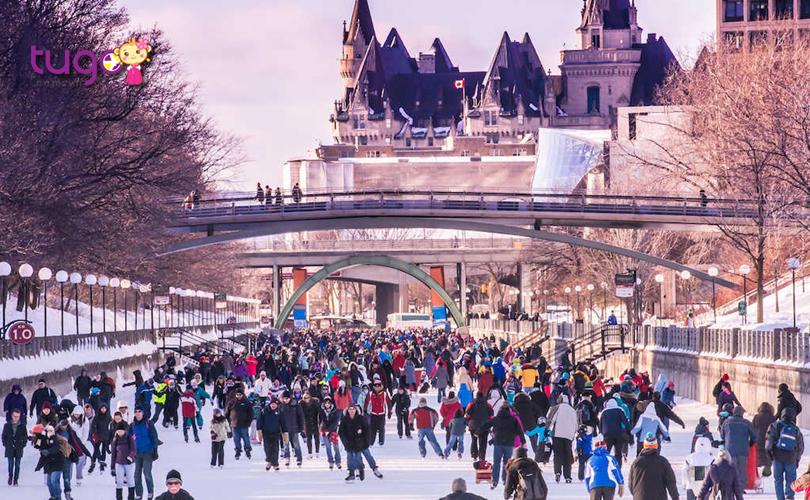 Lễ hội Winterlude thu hút đông đảo du khách đến tham dự nỗi năm