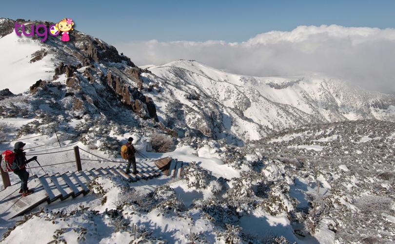 Leo núi tuyết là một hoạt động thú vị dành cho các du khách khi ghé thăm Hàn Quốc vào mùa đông