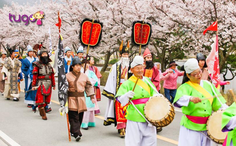 Màn diễu hành đặc sắc, náo nhiệt tại lễ hội văn hóa Yeongam Wangin