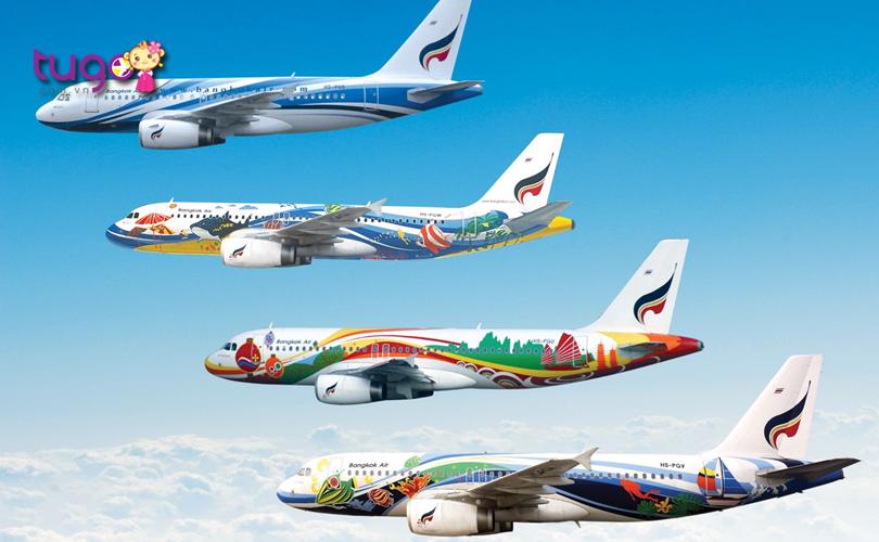 Máy bay là phương tiện phổ biến và tiện lợi để du lịch đến Bangkok