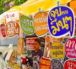 Người bán hàng ở Thái Lan rất thân thiện