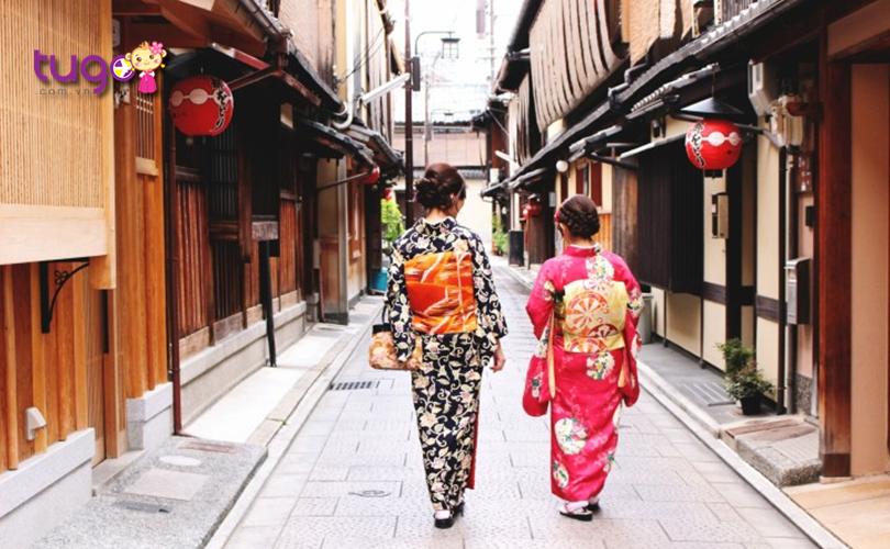 Nét đẹp thơ mộng ở phố cổ Kyoto