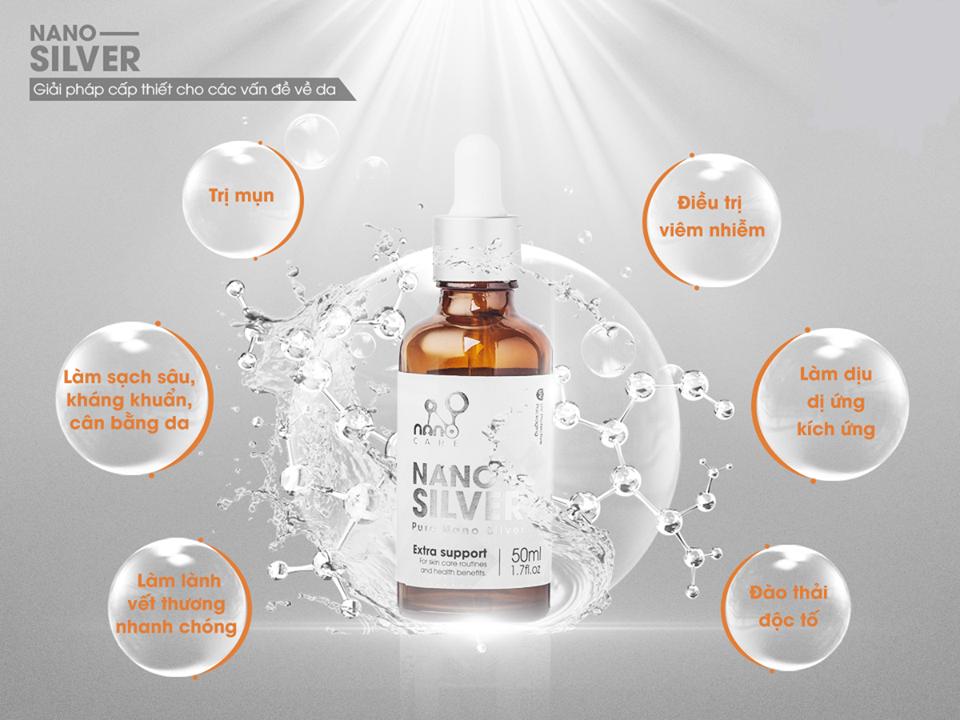 NANO SILVER - Tinh chất Nano Bạc tinh khiết làm sạch da từ bên trong