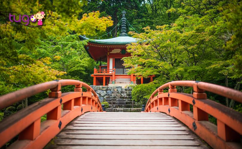 Ngôi chùa Daigo-Ji nổi bật giữa khung cảnh thiên nhiên tuyệt đẹp