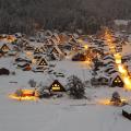 Ngôi làng cổ được bao phủ trong tuyết trắng mỗi khi mùa đông về