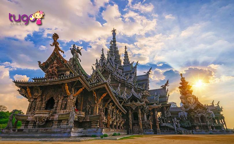 Những đường nét kiến trúc đẹp mắt, tinh xảo của công trình Sanctuary of Truth