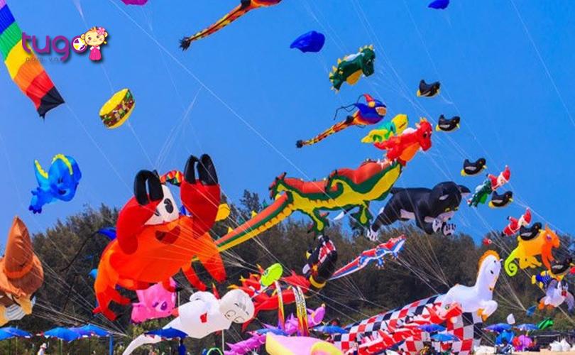 Những cánh diều rực rỡ, đầy màu sắc tại lễ hội thả diều Thái Lan