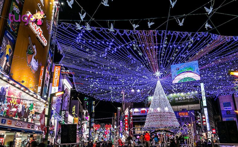 Những cây thông khổng lồ được trang trí bắt mắt ở thành phố Busan