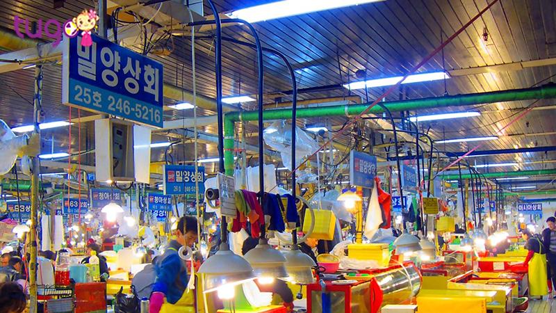 Chợ cá Jagalchi nhộn nhịp, huyên náo về đêm