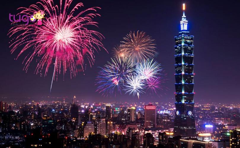 Những màn bắn pháo hoa lung linh vào ngày năm mới ở Đài Loan