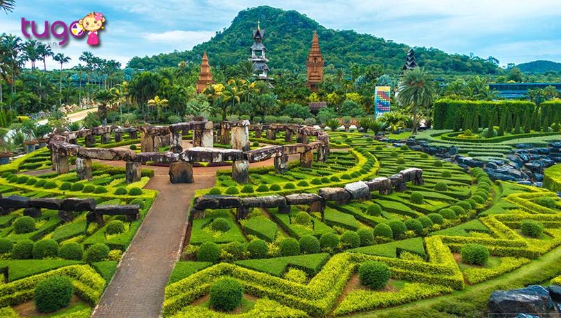 Những mảng xanh ngút ngàn ở khu vườn nhiệt đới Nong Nooch
