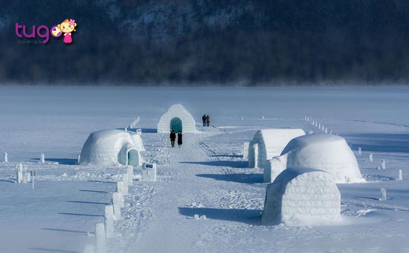 """Những ngôi nhà bằng…""""băng"""" vô cùng độc đáo ở khu vực hồ Shikaribetsu"""