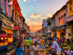 Một góc phố cổ ở Phuket