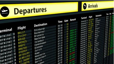 Hành khách nên theo dõi bảng điện tử và đối chiếu các thông tin trên vé bay, bảng điện tử để biết được chuyến bay tiếp theo. Tugo.com.vn